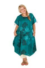 Robe fluide en coton pour femme grande taille Kadia 306989