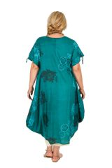 Robe fluide en coton pour femme grande taille Kadia 306990