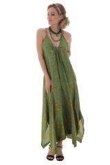 robe fluide longue idéale avec col plongeant Izilbêth 289792