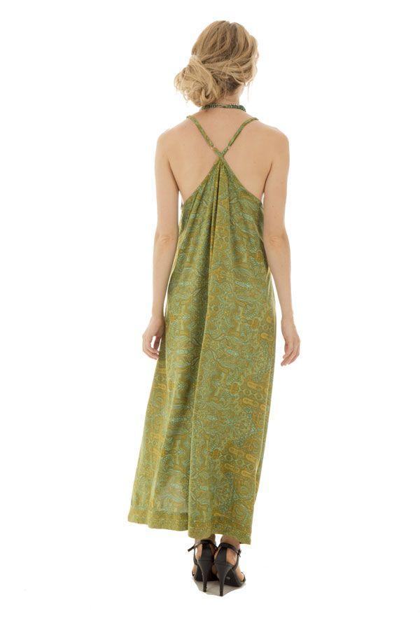 robe fluide longue idéale avec col plongeant Izilbêth 289793