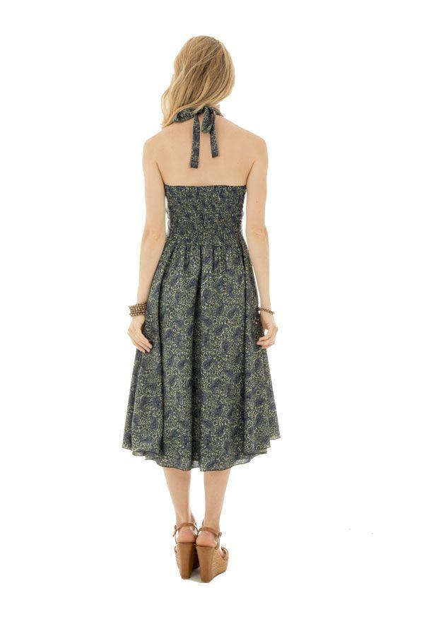 robe fluide mi longue avec joli col pigeonnant Mileva 289875