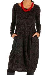 Robe forme boule à poches ethnique et originale Mimongo 312715