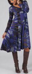 Robe forme trapèze à manches longues Ethnique et Colorée Lomane 274999