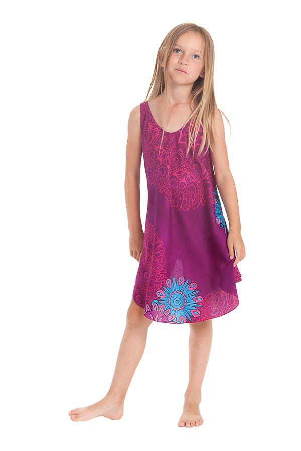 Robe Fuchsia pour fille de Plage et Colorée Penny 280153
