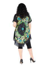 Robe grande taille agréable à porter avec imprimé original Perla 296401