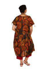 Robe grande taille asymétrique look ethnique-chic Salma