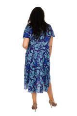 Robe grande taille avec un imprimé d'arabesques idéal pour une cérémonie Myra 306405