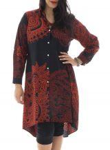 Robe grande taille charmante avec imprimés de style indien Niki 291974