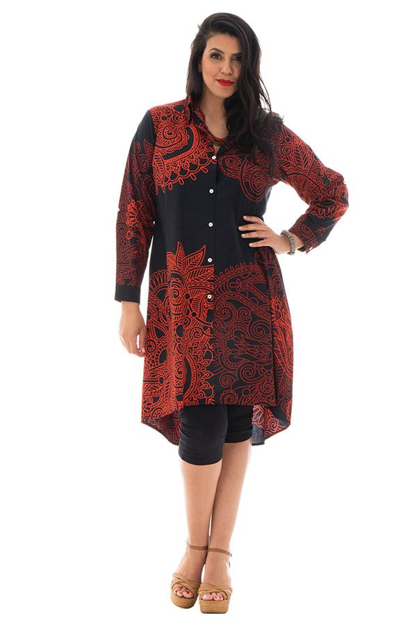 Robe grande taille charmante avec imprimés de style indien Niki 292542