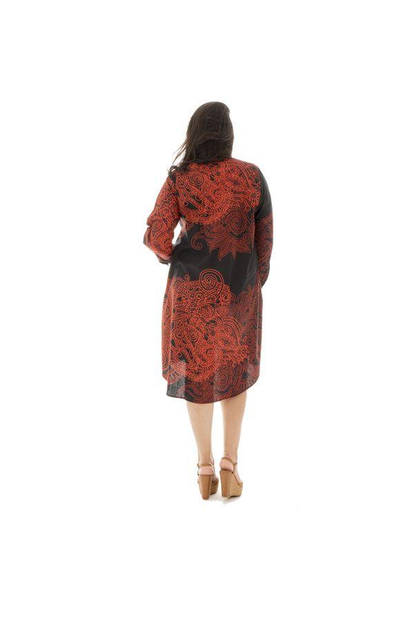 Robe grande taille charmante avec imprimés de style indien Niki 292543