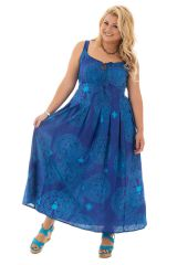 robe grande taille col en v avec imprimés originaux Zélie 292161