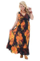 Robe grande taille colorée avec imprimés fantaisies Caty 292103
