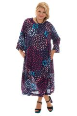robe grande taille coupe ample avec col rond Onega 293540