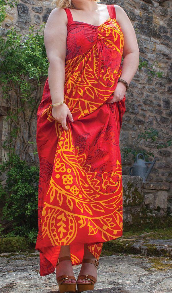 Robe grande taille d'été très féminine originale Assella 284239