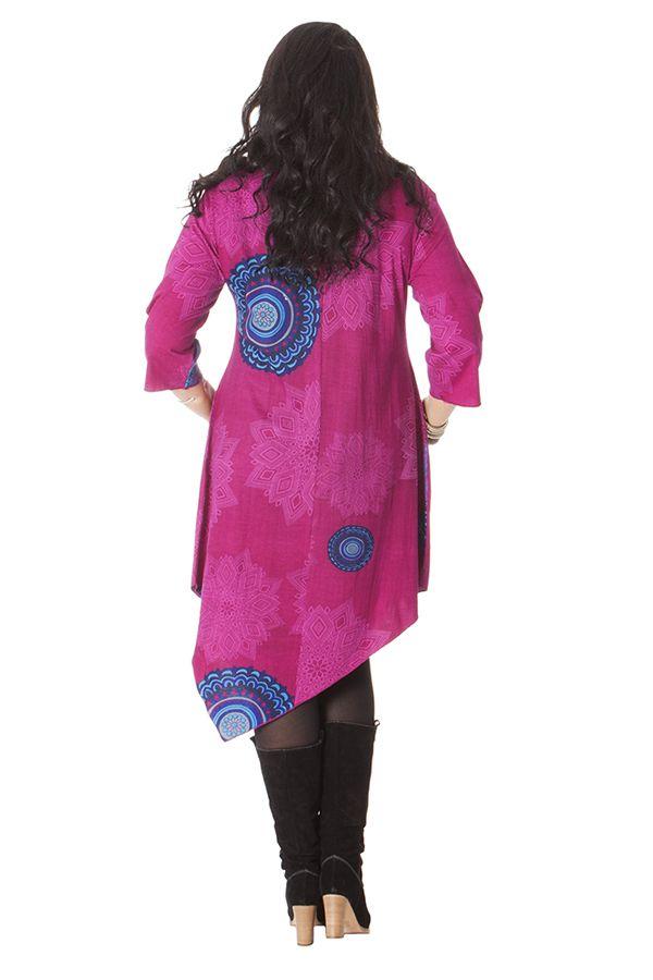 Robe Grande taille Fantaisie et Asymétrique Chiara Rose 286228