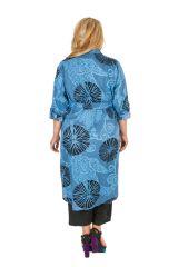 Robe grande taille imprimée et col chemise original Audrey 309794