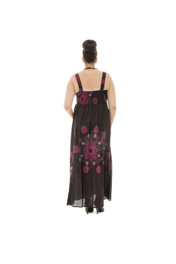 robe grande taille légère avec imprimés originaux noire Samuelle 292154