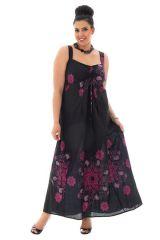 robe grande taille légère avec imprimés originaux noire Samuelle 306940