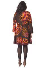 Robe grande taille originale à manches longues 286296