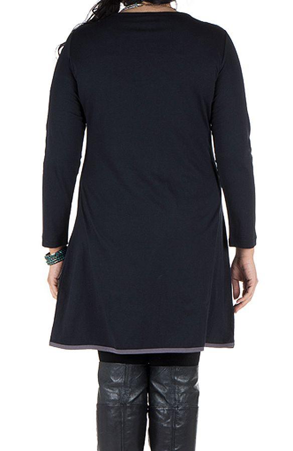 Robe grande taille originale avec imrpimé et col fantaisie Melle 301929