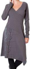 Robe Hiver col Cache Coeur Originale et Chic Lampa Grise 275831