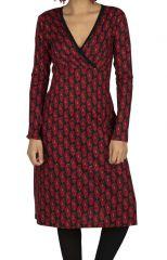 Robe hiver femme avec imprimé original Angèle