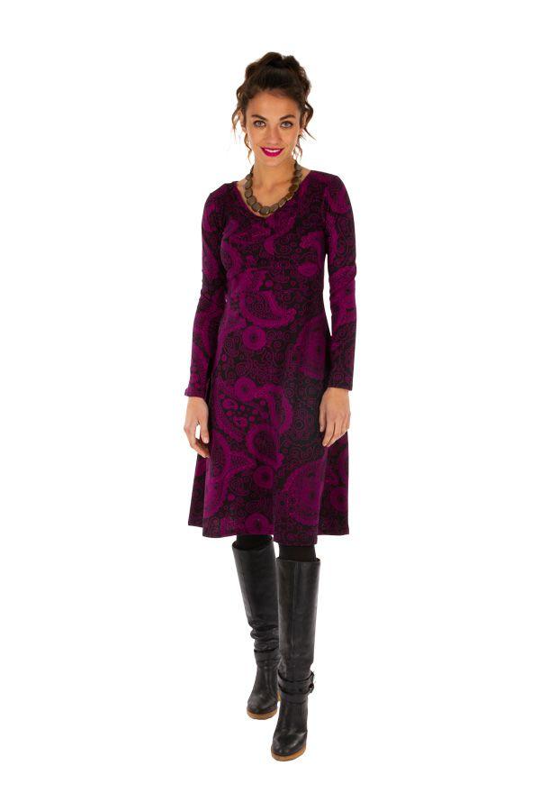 Robe idéale pour l'hiver originale et colorée Noémie 312656