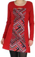 Robe idéale pour Soirée Originale et Ethnique Angie Rouge 278983
