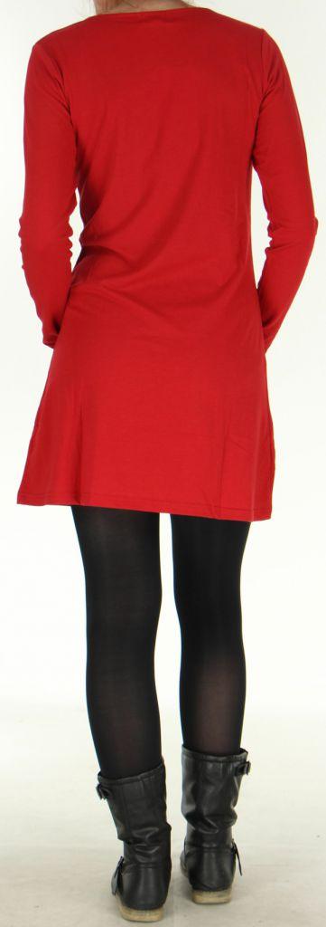 Robe idéale pour Soirée Originale et Ethnique Angie Rouge 278985