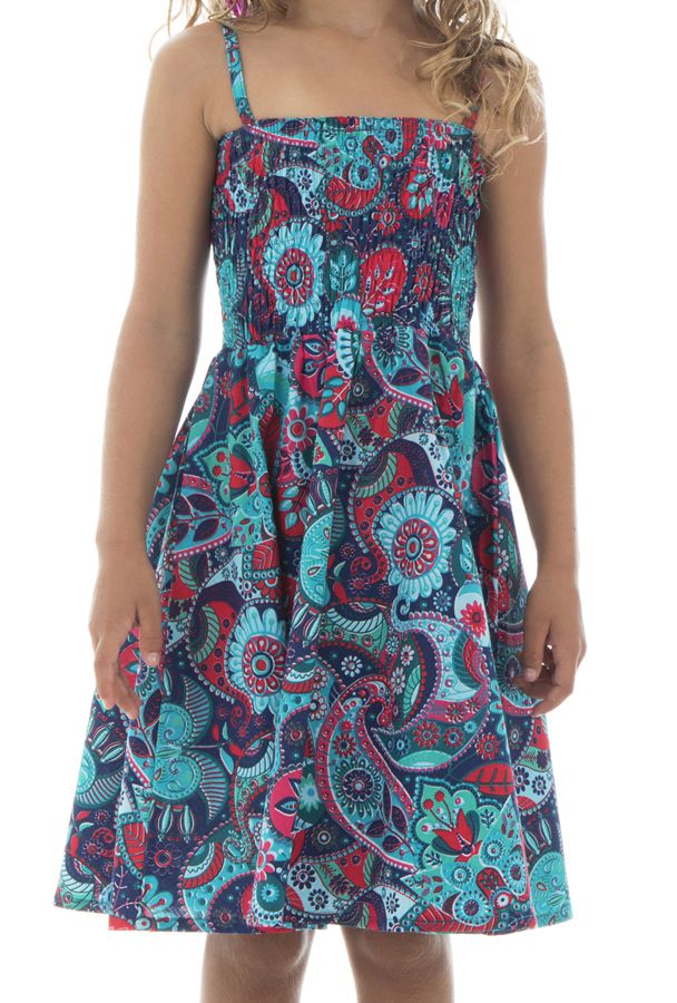Robe imprimé psychédélique à fines bretelles Holly 294603