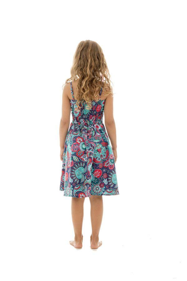 Robe imprimé psychédélique à fines bretelles Holly 294605