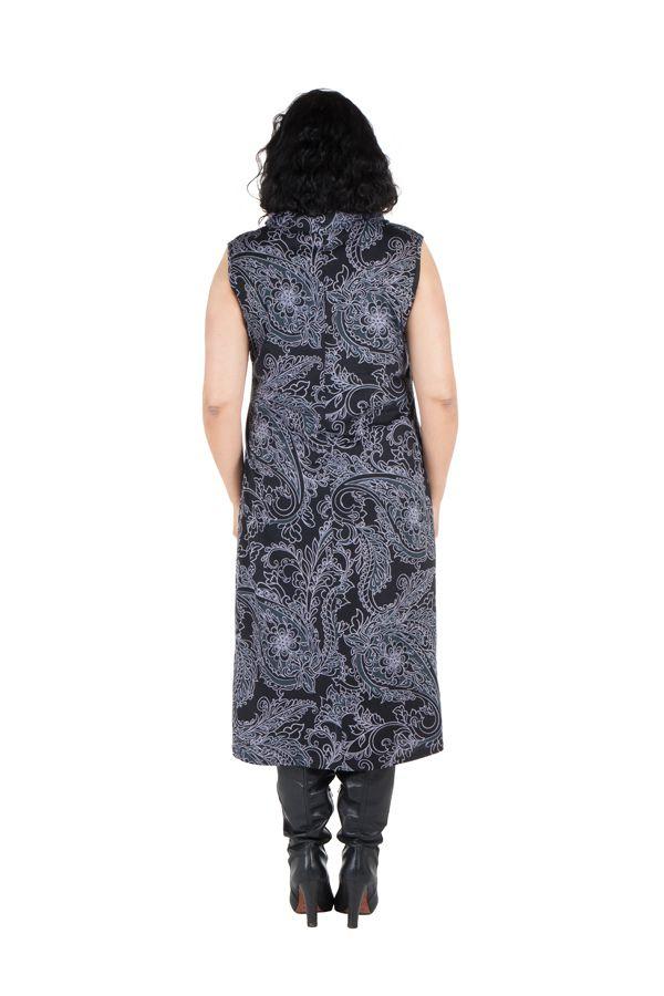 Robe imprimé tendance et col roulé ample et chic Pauline 300643