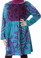 Robe imprimée et élastiquée à la taille pour fille 287291