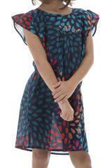 Robe imprimée et fantaisie à manches courtes et col rond Ally 294438