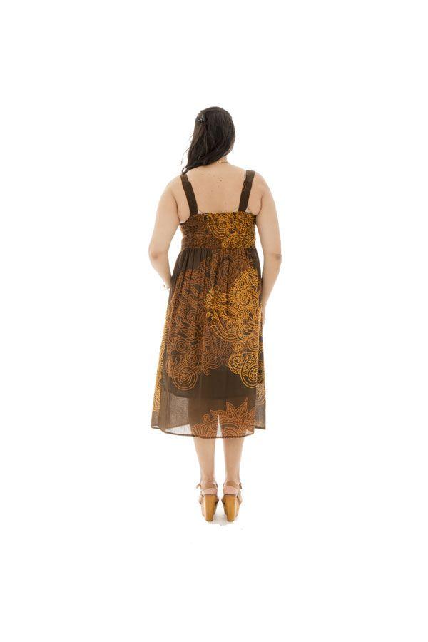 Robe imprimée et smockée pour femme pulpeuse Arion 290552