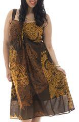 Robe imprimée et smockée pour femme pulpeuse Arion 291955