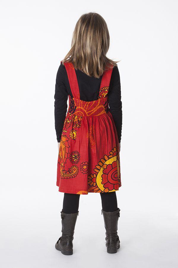 robe imprim e ethnique pour petite fille de couleur rouge. Black Bedroom Furniture Sets. Home Design Ideas