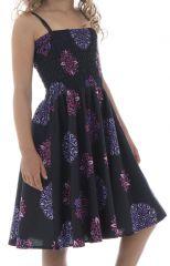 Robe imprimée fantaisie à fines bretelles Holly 294597