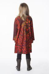Robe imprimée orange et marron pour fille 287337