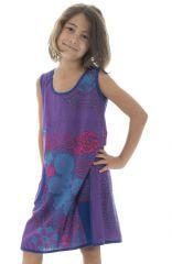 Robe Imprimée pour enfant Ethnique et Colorée Alizée Violette 296163