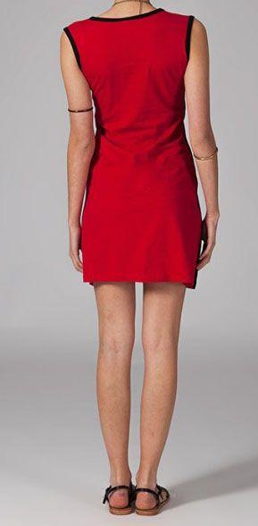 Robe imprimée rouge Rayana