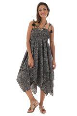 robe jupe 2en1 fluide avec coupe asymétrique Lohan 289910