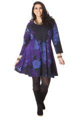 Robe King size Colorée et Féminine Mazzi Noire et Bleue. 286249
