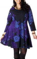 Robe King size Colorée et Féminine Mazzi Noire et Bleue 286773