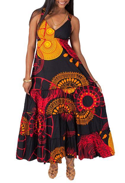 Robe longue à bretelles élastiquées Judy 267664