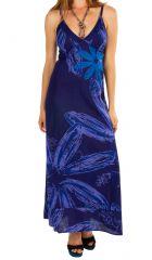 Robe longue à bretelles fines en coton léger pour l'été Sacha 305645