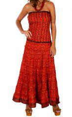 Robe longue à forme bustier ethnique et agréable Tatiana 310697