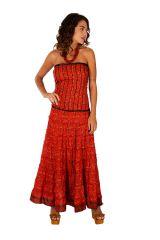 Robe longue à forme bustier ethnique et agréable Tatiana 310698