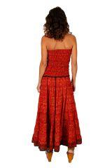 Robe longue à forme bustier ethnique et agréable Tatiana 310699