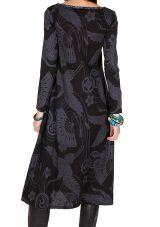 Robe longue à fresques imprimés coupe évasée Melissandre 301419